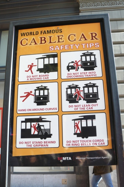 Cable car rules and regs